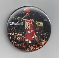 1988 Michael Jordan SLAM Dunk contest button FREE Throw line Chicago Bulls pin