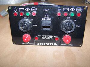 HONDA DUAL IGNITION AND ENGINE INDICATOR PANEL, M&G ELECTRONICS #8525858, NEW!