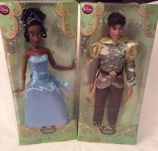 "Disney Classic Princess DOLLS Tiana & Naveen Princess And The Frog 12"" Dolls NIB"