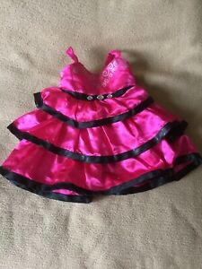 Build A Bear Outfit - Posh Pink Ruffle Dress