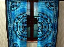 Cotton Elephant Mandala Blue Color Wall Hanging Window Curtain Bohemian Indian