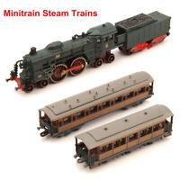 Diecast 1/220 Atlas Minitrain Rail Steam Trains Model Vehicles Collection Toy