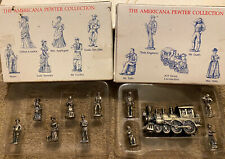 2 Boxes Vintage Diiiards The Americana Pewter Collection Figurines 6 Each Nib