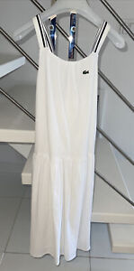 New with tag Girls LACOSTE White Sleeveless Dress Sz12