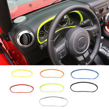 Interior Dashboard Frame Decoration Ring Trim Board Cover for Jeep Wrangler wl