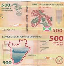 BURUNDI,2015,,500 FRANCS UNCIRCULATED,(R)
