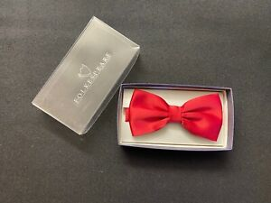 Folkespeare Red Satin Adjustable Bow Tie -  Boxed