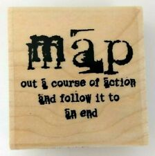 Distressed 'MAP out a course of action and follow it to an end' Stamp NEW