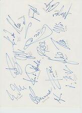 BORUSSIA DORTMUND BUNDESLIGA CHAMPIONS 1995 ORIG HAND SIGNED A4 SHEET X 19 SIGS