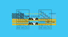 N Scale AWVR Unstoppable Movie EMD SD40-2 1206 Decal Set