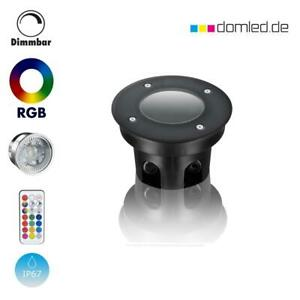 LED Bodeneinbaustrahler Außen 230V IP67 RGB Gartenstrahler Bodenstrahler Flach