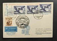 1952 Salzburg Austria  First Flight Postcard Cover to Reykjavik Iceland