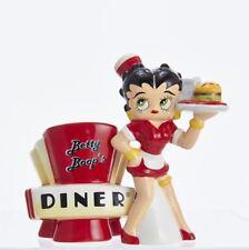 BB9181 Betty Boop Retro Diner Waitress Magnetic Salt Pepper Shaker Set Cooking