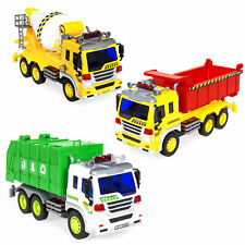Best Choice Products Set of 3 1/16 Scale Friction Powered City Vehicle Toy Truck