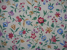 Beautiful unused vintage Sanderson textured floral fabric - 1 yard lengths