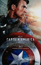 Chris Evans Signed Captain America The First Avenger 11x17 Movie Poster COA