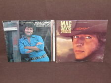 MAC DAVIS 2 LP RECORD ALBUMS LOT COLLECTION Country Music THUNDER/HOOKED ON ME