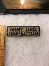 WW2 US Army Ordinance Inspector Tab Twill