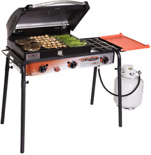 Big Gas Camping Grill - Portable Outdoor Kitchen Travel Cooker -BBQ Tailgate NEW