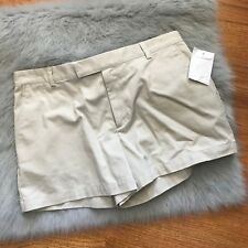Ralph Lauren Short Khaki Shorts NEW NWT 14 Women 100% Cotton