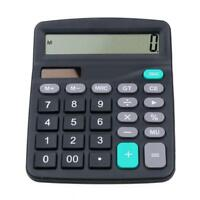 12-Dight Desk Calculator Jumbo Large Buttons Solar Desktop Battery Office Tools