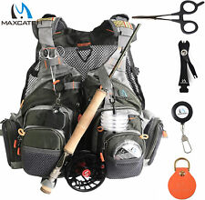 Maxcatch Fly Fishing Mesh Vest (Vest / Sling Pack / Backpack)