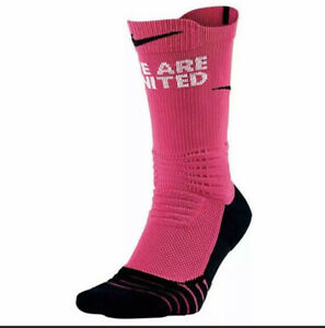 "Nike Elite Versatility Kay Yow ""WE ARE UNITED""Basketball Socks SMALL 616 PINK"