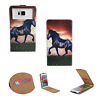Samsung Galaxy J2 (2017) - Handy Hülle Tasche Schutzhülle - Flip S Pferd