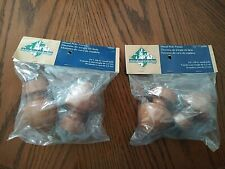 Woodland Collection Wood Pole Finials #13593 ~ 2 Packages ~ Total of 4 ~ Nip