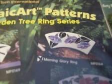 Morning Glory Ring MosaicArt Pattern Garden Tree Ring Series