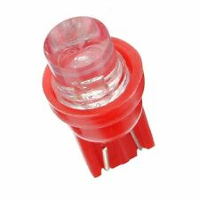 6 red T10 5W wedge globe LED Car Light Bulbs, ideal for dash conversions