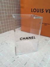 CHANEL Cosmetic Organizer Clear Acrylic Makeup Holder Storage Box with Lid