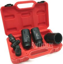 "New 6 Pc 1/2"" Drive Shaft Hub Nut Deep Impact Socket Set 12 Point 30mm 32mm 36mm"