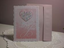 Carol's Rose Garden - Valentiine card - A pink heart on the cover