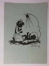 """ Angel, Children, Nativity Scene "" 1947, Silhouette, Lilo Pannwitz (45612)"