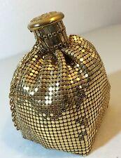 Vintage Handbag WHITING DAVIS Gold Mesh Beggars Bag Purse