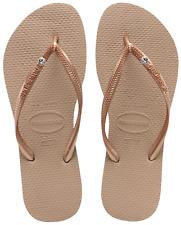Womens Havaianas Slim Flip Flops Rose Gold Sandals UK 6 - 7