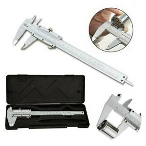 "6"" 150mm Stainless Steel Vernier Caliper Micrometer Measuring Tool Gauge Ruler"