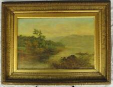 """CR-0001 Wiggs J. Kinnaird, English 1875-1915 Oil On Canvas """"On the Conway"""""""