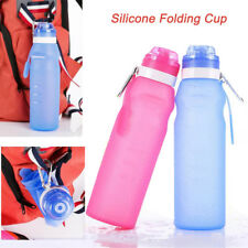 Portable BPA Free Sports Water Bottle Silicone Tour Hiking Camp Bottles NEW