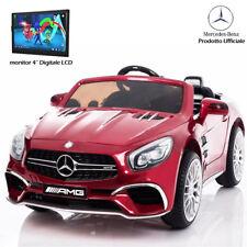 Auto Macchina Elettrica per Bambini Mercedes SL65 AMG Rosso 12V con Monitor LCD