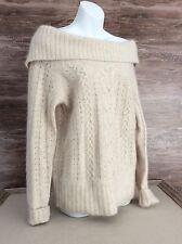 Banana Republic Women's Off The Shoulder Soft Angora Blend Sweater sz Medium