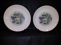 Steubenville Pottery - Homestead Plates - 1966, Set of 2