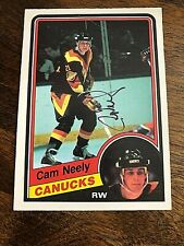 1984-85  O-PEE-CHEE  CAM NEELY SIGNED ROOKIE CARD. #327