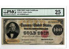 1882  $100  Gold Certificate  Fr 1214   PMG 25   Teehee/Burke  19-C354