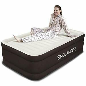 Size Air Mattress w/ Built in Pump - Luxury Double High Inflatable Twin Brown