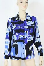 Noni B Stretch Viscose Blue Long Sleeve Shirt Size 12