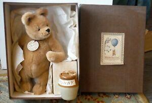Vintage Winnie the Pooh Life Size R John Wright Bear MIB Doll with Hunny P834