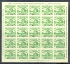 US Stamp (L147) Scott# 730, Mint LH, No Gum As Issued, Souvenir Sheet