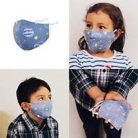 "Kinder Mund-Nasen-Maske Stoffmaske Gesichtsmaske ""Universum"" 100 Baumwolle"